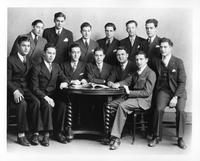 A group portrait of Pi Tau Sigma Fraternity members.