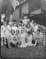 A group portrait of Sigma Rho Chi Sorority members.