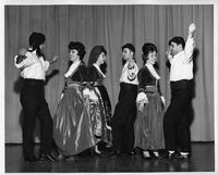 Pictured here is a scene from a Greek dance to be performed at 'Hellenic Night' Saturday, Feb. 1, at the International Institute.