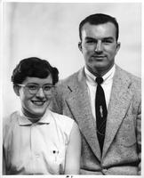 Barbara Bunnell, president of the Association of Women Students, and Dave Lippert, president of MacKenzie union, Wayne University, 1954-55.