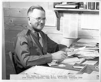 Col. Henry R. Carstens, M.C., Commanding Officer 17th General Hospital, Camp McCoy, Wisconsin February 1943.
