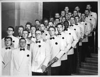 Pictured above is the Wayne University Men's Glee Club. The 35-man Glee Club will leave on a three-day concert tour of the state on April 15.