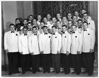 Portrait of the Men's Glee Club.