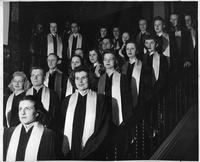 A portrait of the A Capella women's choir.