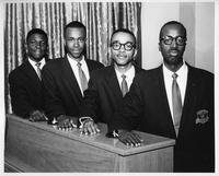 The Undergrads Quartet' (Left to right): Willie Edwards, Bob Harris, Herreld Adams and Brazeal Dennard.