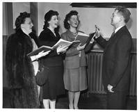 Singers L. to R.: Jean Dempter, Julia Beck, Betty Schroeder.