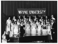 Women's Glee Club poses for a portrait.