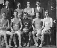 A portrait of the 1910 Central High School State Championship Basketball Team.