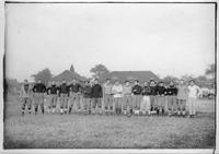 The Central High School football team poses for a portrait