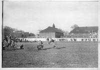 DAC Clubhouse in background. Grindley Field (Later Orchestra Hall. Vernor's Ginger Ale.