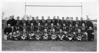 A portrait of the 1957 Wayne football team