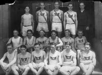 A portrait of the 1921 Detroit Junior College Track Team.