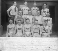 D.J.C. had teams in 1918 and 1919--photos disappeared. 1920. Defeated Ypsi in dual meet. In state meet, Pillsbury set new record in 880 and 1 mile.