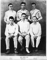 1926 Tennis Team. Back: Moss, Rosenthal, Bacon. Front: Zemon, Spencer, Gussin.