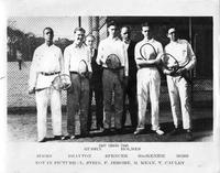 1927 Tennis Team. Simms, Brayton, Spencer, MacKenzie, Moss.