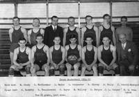 Frosh Basketball 1934-1935. Won 26 games, lost none.