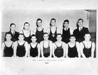 The 1935 Varsity Swimming Team.