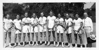 The 1937-1938-1939 tennis Squad. Won 60, lost 4 over the three years.