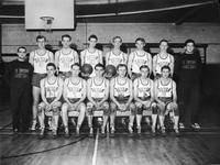 1938 basketball team portrait.