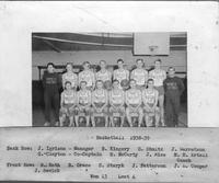 Basketball 1938-1939. Won 13, lost 4.
