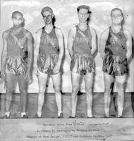 One-Mile Relay Team 1939-1940. R. Wingo, D. Amsworth, D. Waskie, C. Doan. Winners at Penn Relays, 3:24.7 and Illinois relays, 3:27.