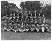 Portrait of 1940 Wayne University Football Team.