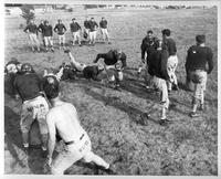 The 1940 Football team scrimmages.
