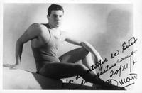 A swimmer, Jose M. Duranona, poses for a publicity shot.