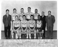The 1941-1942 Basketball Team Portrait. Won 12, Lost 3.