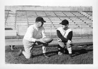A shot of Rynearson (sp?) and Asst. Coach Ray L. Stites (sp?).