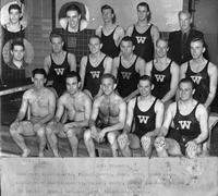 Portrait of Swim Team with inserts.