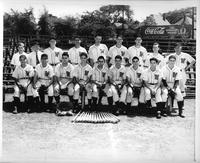 1942 baseball team in a portrait.