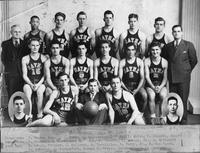 Basketball team portrait.