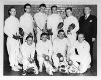 Portrait of 1949 Fencing Team.