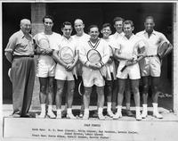1949 tennis team portrait.