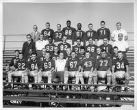 1961 Varsity Football team portrait.