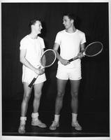 Two tennis players in an informal shot.