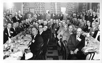 Reunion of Holmes athletes, period 1924-1930. In Detroit restaurant. One of several 'period' reunion dinners held in 1958.
