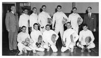 A portrait of the 1956-1957 fencing team.