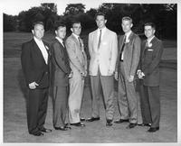 Portrait of the 1958 golf team.
