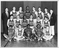 A portrait of the 1959-1960 basketball team.