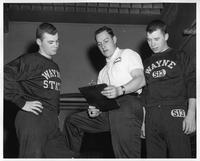 Dave Gause (breast stroke), Hal Willard (Coach), Guy Burton (freestyle).