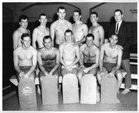 The 1959-1960 swimming team portrait.