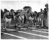 The 1959 Cross Country team at a meet.