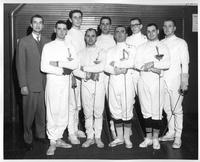 Portrait of the fencing team, 1958-1959.