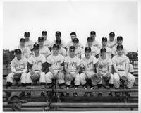 Portrait of the 1959 baseball team.