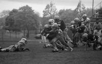 1991 football action shot versus Northern Michigan University