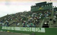 1992 football action shot versus Ferris State University (The stands).