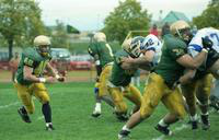 1996 football team action shot versus Hillsdale.