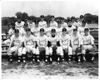 Portrait of the 1961 Wayne State Baseball Team.
